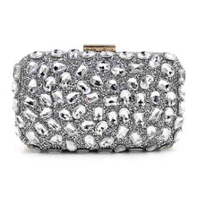 Load image into Gallery viewer, Sparkling Crystal Patterned Evening Clutch - Available in Multiple Colours