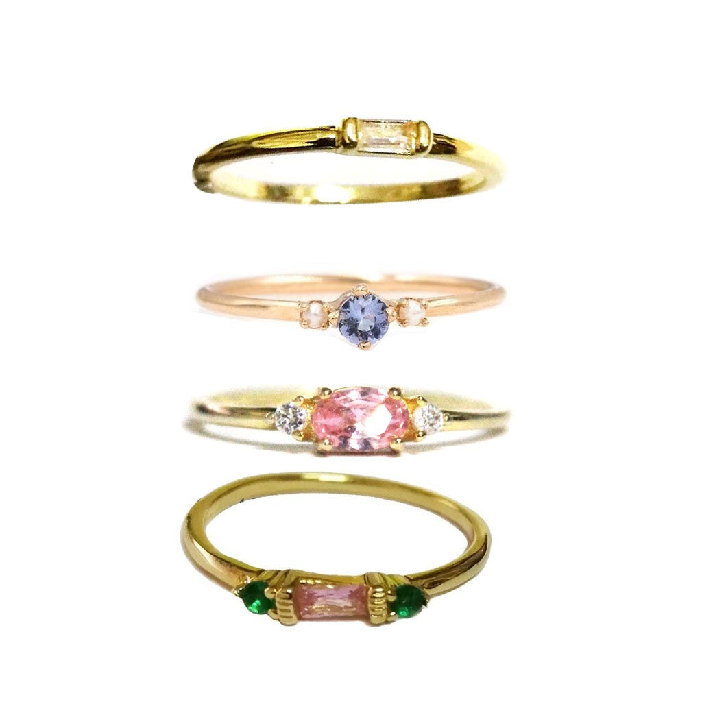 Set of 4 Gold Rings - Available in Multiple Sizes