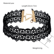 Load image into Gallery viewer, Black Lace Choker