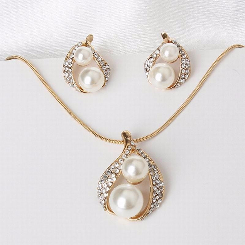 Water Drop Shaped Gold Set of 2
