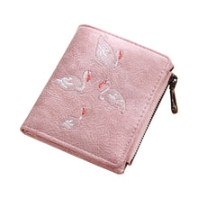 Load image into Gallery viewer, Mini Swan Embroidery PU Leather Purse