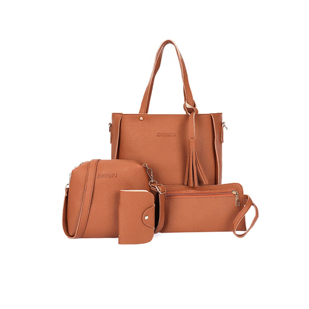 Orange PU Leather Set of 4