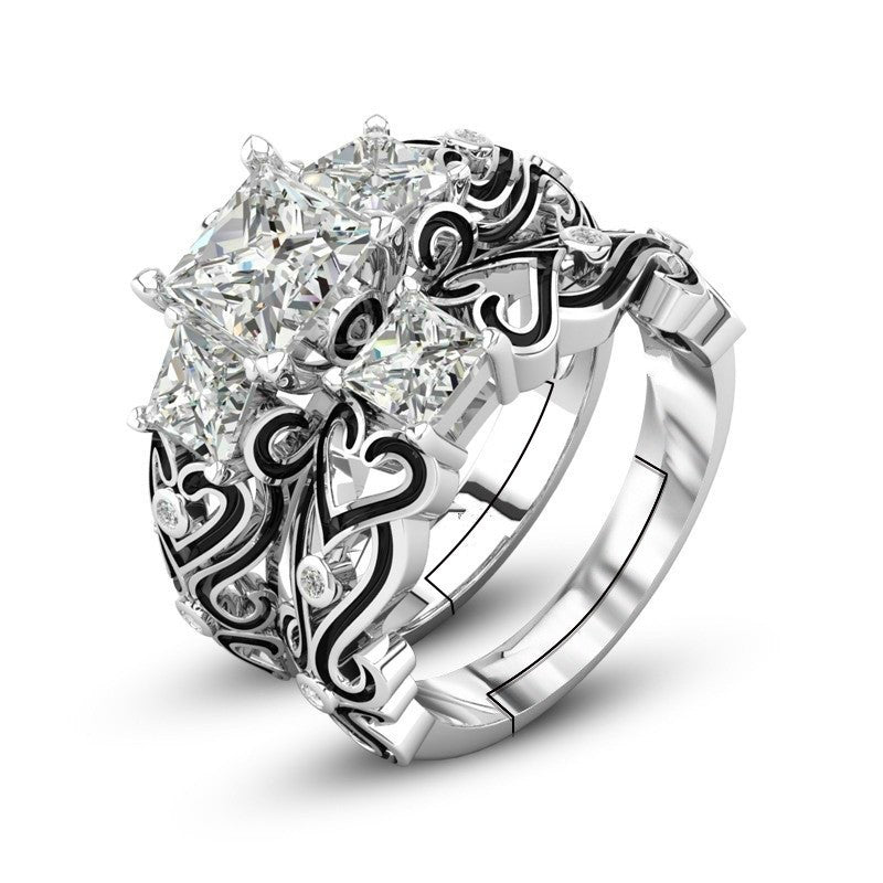 Shiny Adjustable Silver Ring - Available in Multiple Colours