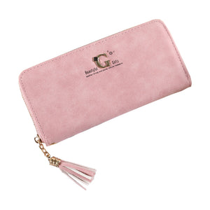 Tassel Pendant PU Leather Purse