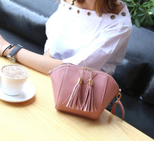 Load image into Gallery viewer, Mini Tasseled PU Leather Cross-Body Bag - Available in Multiple Colours