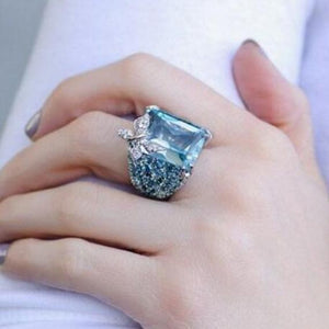 Square Cut Butterfly Silver Ring - Available in Multiple Sizes