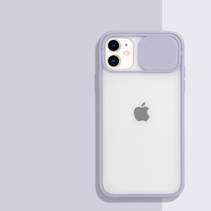 Transparent Sliding Camera Protecting iPhone Case - Available in Multiple Colours