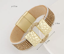 Load image into Gallery viewer, Sparkling PU Leather Bracelet with Rhinestones - Available in Multiple Colours
