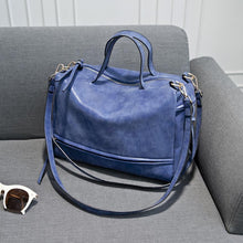 Load image into Gallery viewer, Vintage Suede Effect PU Leather Handbag - Available in Multiple Colours