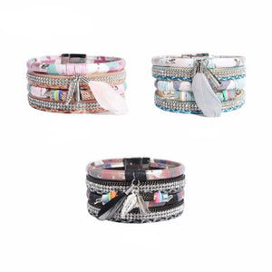 Wristband PU Leather Bracelet - Available in Multiple Colours