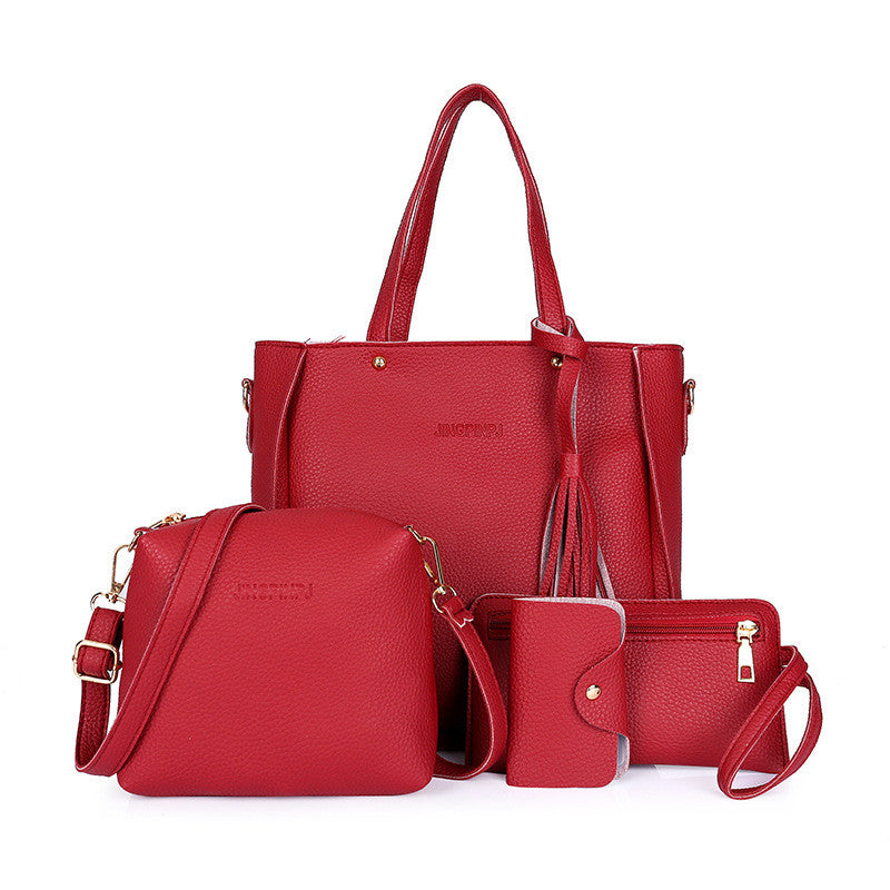 Red PU Leather Set of 4