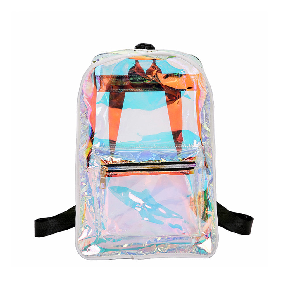 Transparent PU Leather Backpack
