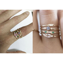 Load image into Gallery viewer, Set of 4 Gold Rings - Available in Multiple Sizes