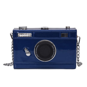 Camera Shaped PU Leather Cross-Body Bag - Available in Multiple Colours