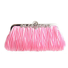 Load image into Gallery viewer, Pink Satin Evening Clutch