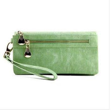 Load image into Gallery viewer, Suede Effect PU Leather Purse with Zip Pocket and Strap