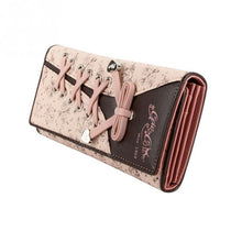 Load image into Gallery viewer, Pink&Black Laced Feature PU Leather Purse