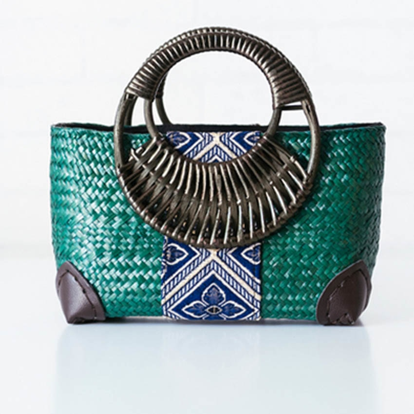Retro Fashion Bamboo Fiber Handbag - Available in Multiple Colours