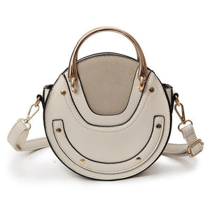 Round Mini PU Leather Cross-Body Bag - Available in Multiple Colours