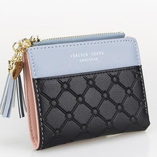 Load image into Gallery viewer, Mini Double Coloured PU Leather Purse with Tassel Pendant - Available in Multiple Colours