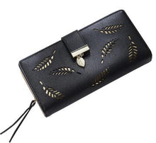 Load image into Gallery viewer, Hollowed Out Leave Print PU Leather Purse