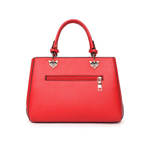 Tricoloured PU Leather Handbag - Available in Multiply Colours