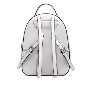 Grey Split Leather Backpack