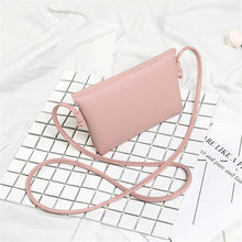 Load image into Gallery viewer, Glossy PU Leather Cross-Body Bag with Circle Pendant