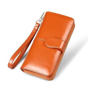 Genuine Leather Purse With Strap