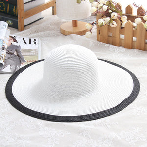 Audrey Hepburn Style Straw Brimmed Hat - Available in Multiple Colours