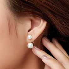 Load image into Gallery viewer, Stud Earrings Sterling Silver Plated with Imitation Pearls - Available in Multiple Colours