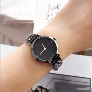 Crystal Stainless Steel Quartz Watch - Available in Multiple Colours