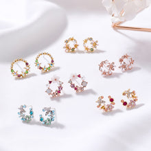 Load image into Gallery viewer, Selection of Circle Stud Earrings
