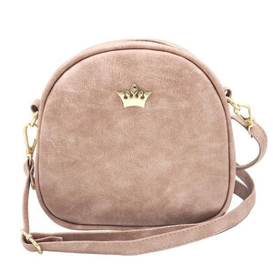Mini Crown Patch PU Leather Cross-Body Bag - Available in Multiple Colours