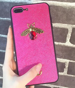 Bee Patch TPU iPhone Case - Available in Multiple Colours