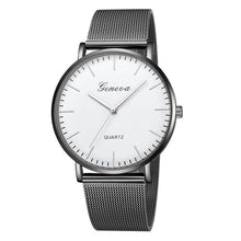 Load image into Gallery viewer, Geneva Stainless Steel Mesh Strap Quartz Watch - Available in Multiple Colours