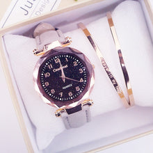 Load image into Gallery viewer, Starry Sky PU Leather Strap Quartz Watch - Available in Multiple Colours
