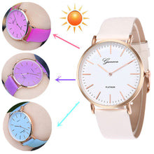 Load image into Gallery viewer, Colour Changing PU Leather Strap Quartz Watch - Available in Multiple Colours