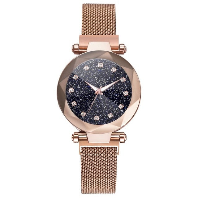 Starry Sky Stainless Steel Mesh Strap Quartz Watch - Available in Multiple Colours