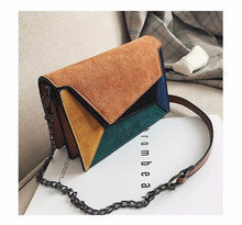 Load image into Gallery viewer, Small Geometrical PU Leather Flap Cross-Body Bag