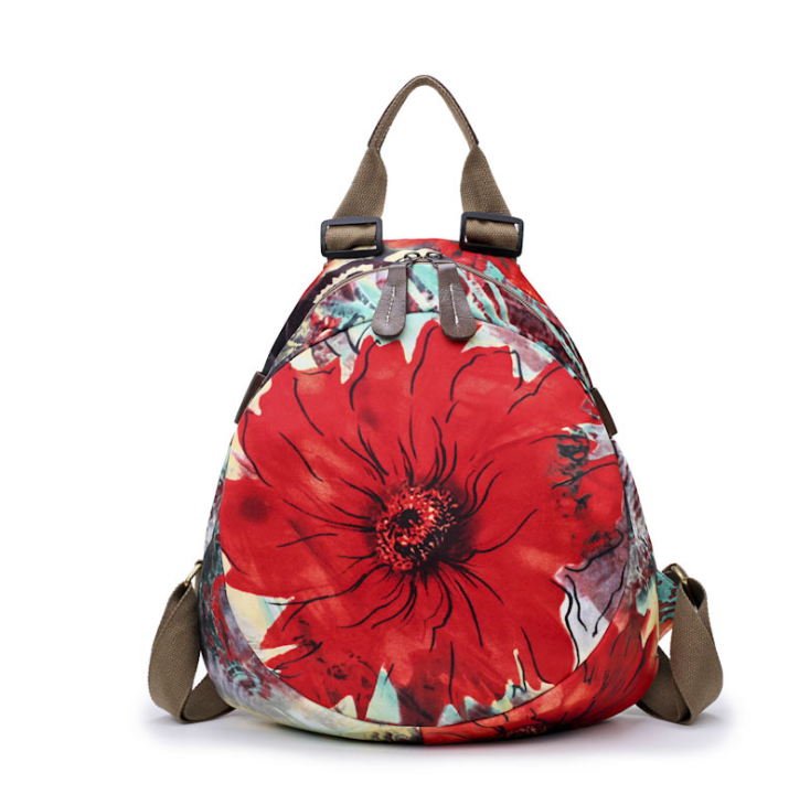 Floral Patterned Oxford Cloth Backpack - Available in Multiple Colours