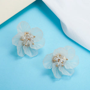 Resin Flower Shaped Stud Earrings - Available in Multiple Colours