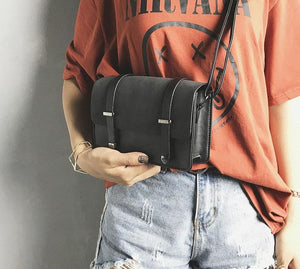 Vintage PU Leather Cross-Body Bag
