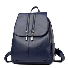 Load image into Gallery viewer, PU Leather Backpack - Available in Multiple Colours