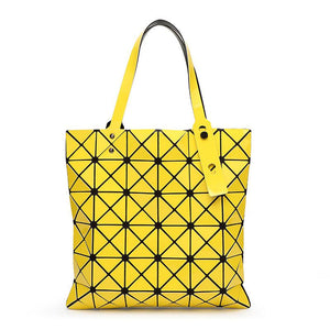 Geometric Patterned PU Leather Handbag - Available in Multiple Colours