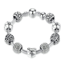 Load image into Gallery viewer, Murano Beads Silver Bracelet- Available in Multiple Sizes and Colours
