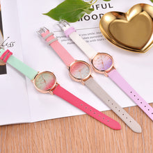 Load image into Gallery viewer, Double Coloured PU Leather Strap Quartz Watch - Available in Multiple Colours
