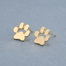 Load image into Gallery viewer, Paw Print Stud Earrings - Available in Multiple Colours