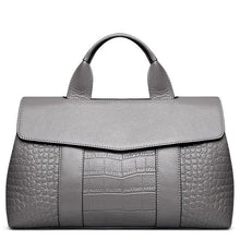 Load image into Gallery viewer, Crocodile Patterned Genuine Leather Handbag - Available in Multiple Colours