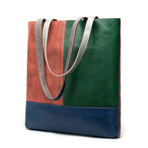 Multicoloured Genuine Leather Shoulder Bag